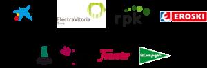 logotipos de patrocinadores de la regata internacional de globos de vitoria