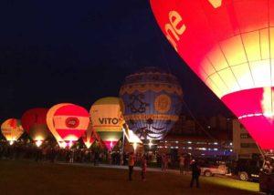 Night Glow de festival globos aereostáticos