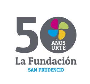 Logotipo La Fundación San Prudencio 50 aniversario horizontal
